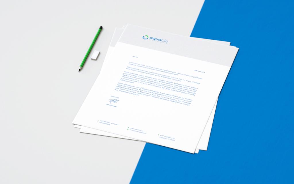Aqua Bio Tech Letterhead Design
