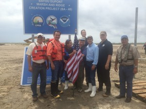 CPRA and Jefferson Parish officials celebrate the project in Spring 2015.