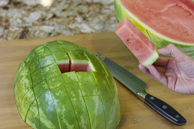 The easiest way to cut a watermelon for a party!