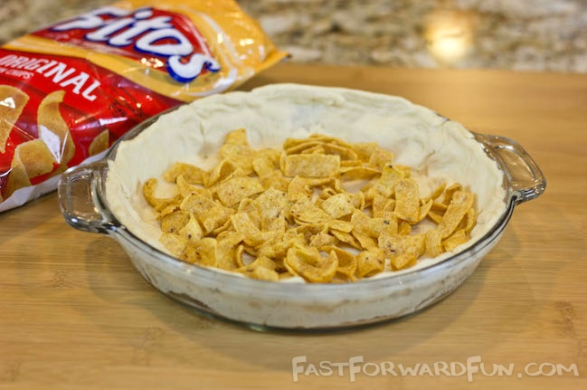 Frito Taco Pie made with Pillsbury Crescent rolls! (super fun video tutorial and step-by-step photos)