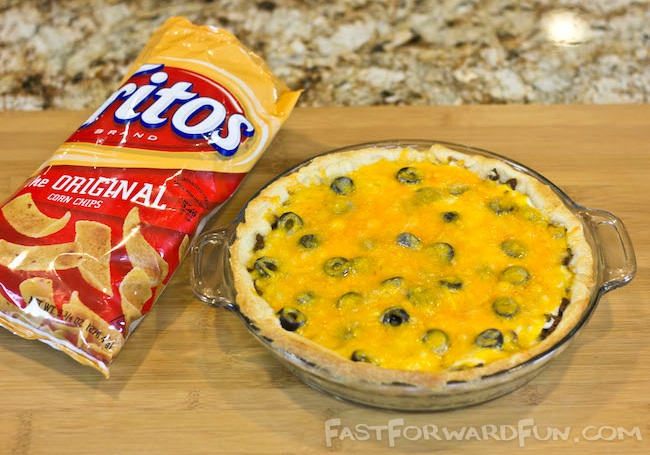 Frito Taco Pie made with Pillsbury Crescent rolls! {super fun video tutorial and step-by-step photos}