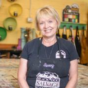 "Susan ""Swooz"" Hudson, Black Dog Salvage's furniture paint expert"
