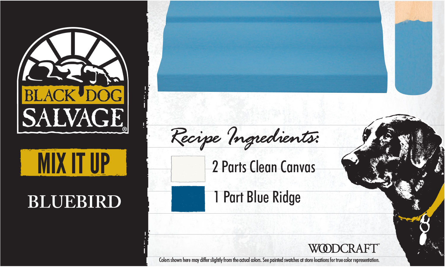 """""""Blue Bird"""" is made from 2 Parts """"Clean Canvas"""" and 1 Part """"Blue Ridge"""""""