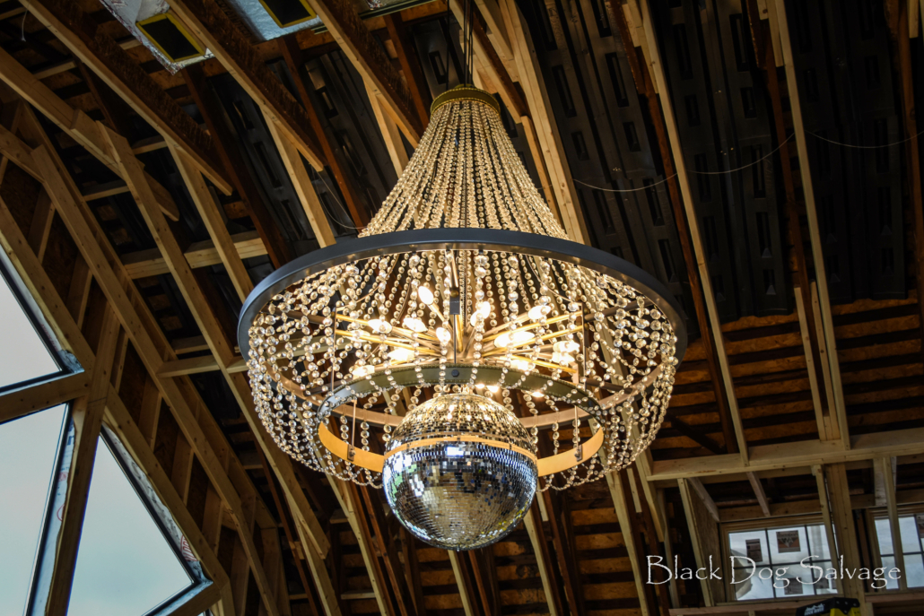 lighting made from architectural salvage