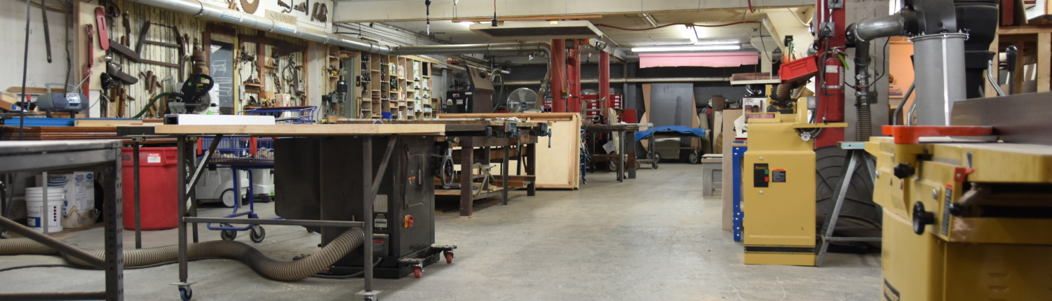 the shop in the Black Dog Salvage design center