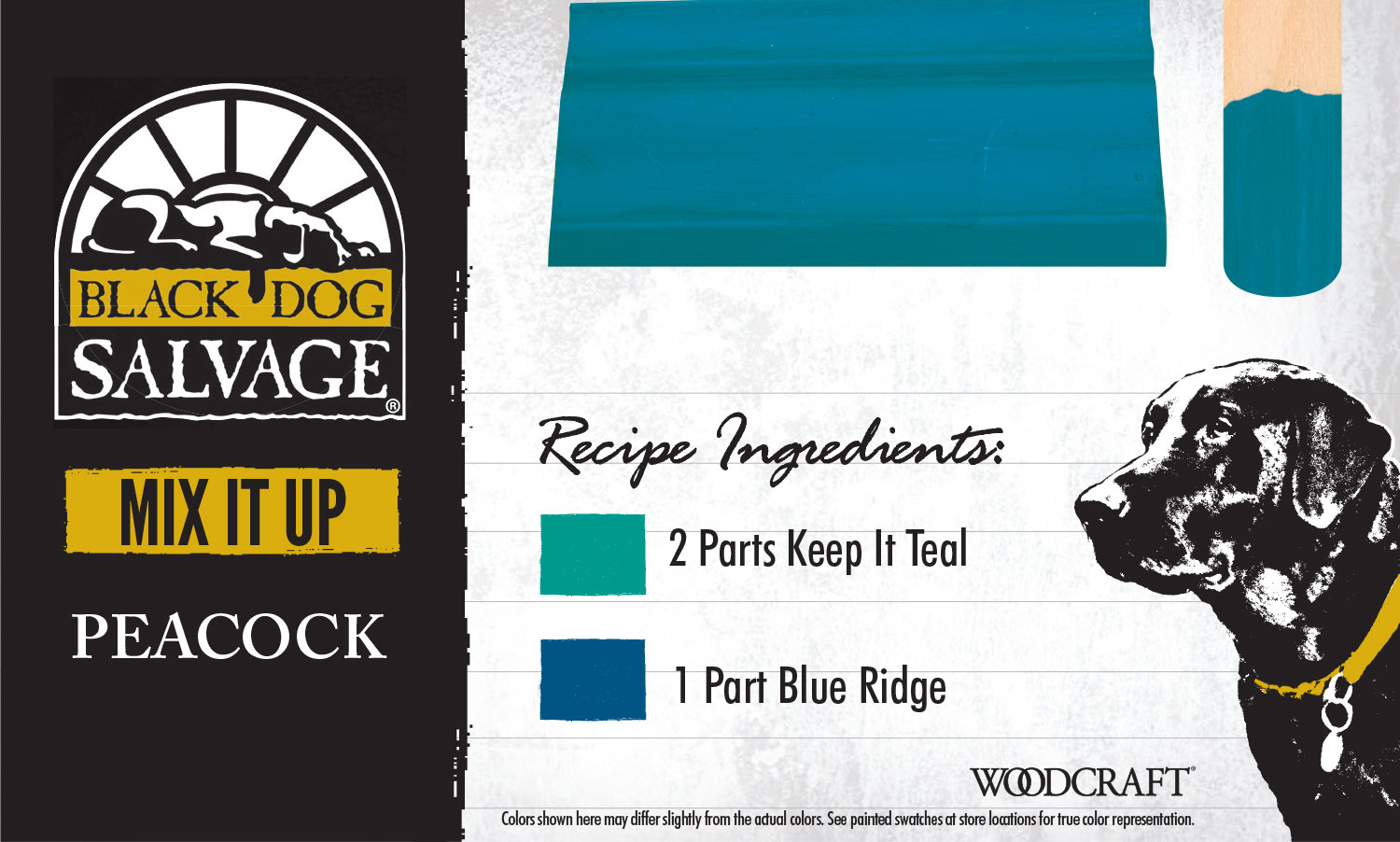 """""""Peacock"""" is made from 2 Parts """"Keep It Teal"""" and 1 Part"""" Blue Ridge"""""""