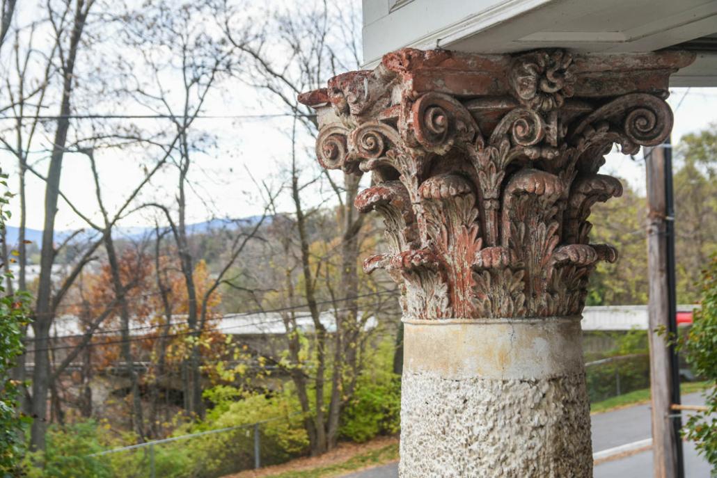 a corinthian collumn on the Stone House
