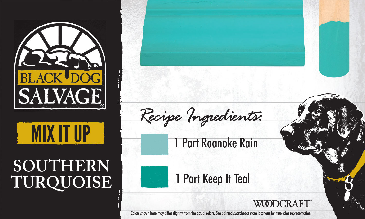 """""""Southern Turquoise"""" is made from 1 Part """"Roanoke Rain"""" and 1 Part """"Keep It Teal"""""""