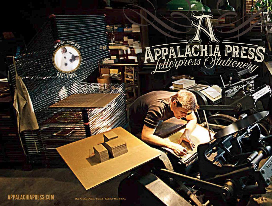 John Reburn Appalachia Press Letterpress Stationery
