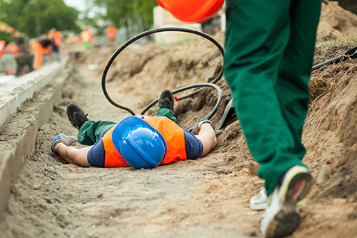 Construction worker injured on the job