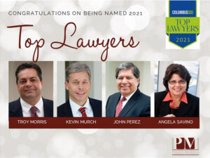 Troy Morris, Kevin Murch, Juan Perez, and Angela Savino Named 2021 Top Lawyers by Martindale-Hubbell and Columbus CEO
