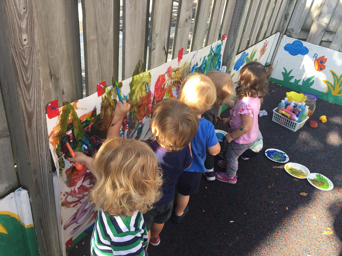 HolyCross Kids Painting Fence