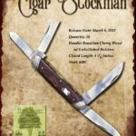 Tuna Valley Cutlery Gallery - 2012 Cigar Stockman - Brazilian Cherry with Dimpled Bolsters