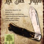 Tuna Valley Cutlery Gallery - 2012 Lockback - Burnt Stag with Engraved Bolsters