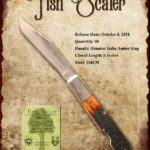 Tuna Valley Cutlery Gallery - 2014 Fish Scaler - Amber Stag