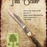 Tuna Valley Cutlery Gallery - 2014 Fish Scaler - Burnt Stag