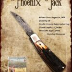 Tuna Valley Gallery - 2020 Phoenix Jack in Amber Stag with Raindrop Damascus