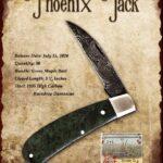 Tuna Valley Gallery - 2020 Phoenix Jack in Green Maple Burl with Raindrop Damascus