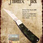 Tuna Valley Gallery - 2020 Phoenix Jack in Green Maple Burl with 154CM