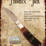 Tuna Valley Gallery - 2021 Phoenix Jack in Catalina Wine Mixer Bone with 154CM Steel