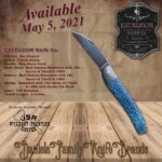Excelsior Knife Co. gallery - Sea Serpent - Chuck Hawes - Blue Coral Damascus