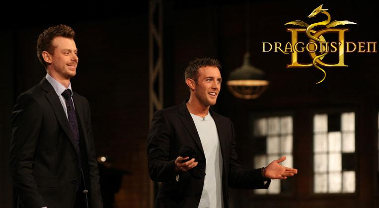 With my Naked Co-Founder Alex on CBC's Dragons' Den Second Chance Episode.