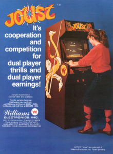 joust arcade game graphic