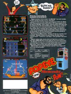 POPEYE-arcade-flyer game graphic