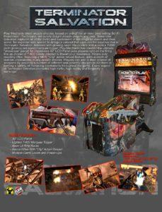 Terminator-Salvation-arcade-flyer game graphic