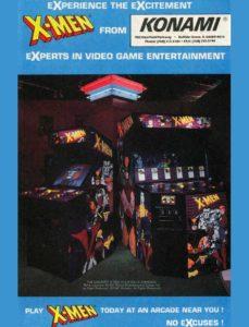 X-MEN-arcade-flyer game graphic