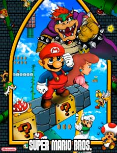 SUPER-MARIO-BROS game graphic