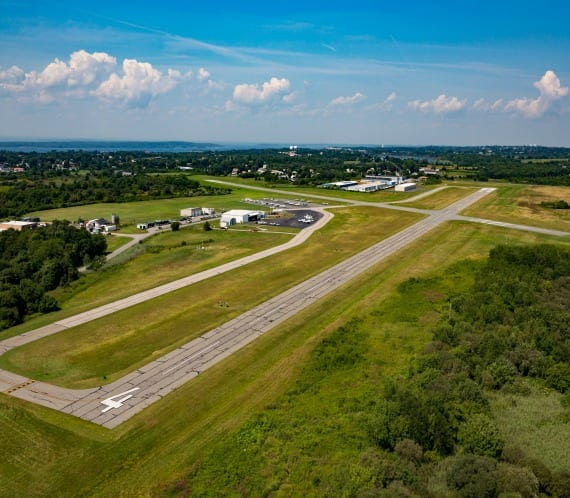 Newport Airport from above