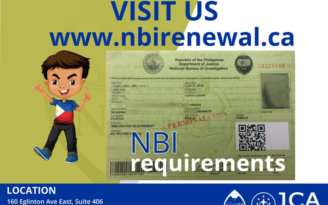 NBI Requirements
