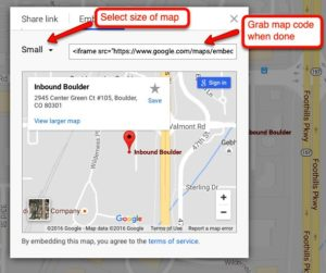 How to embed google map on my website