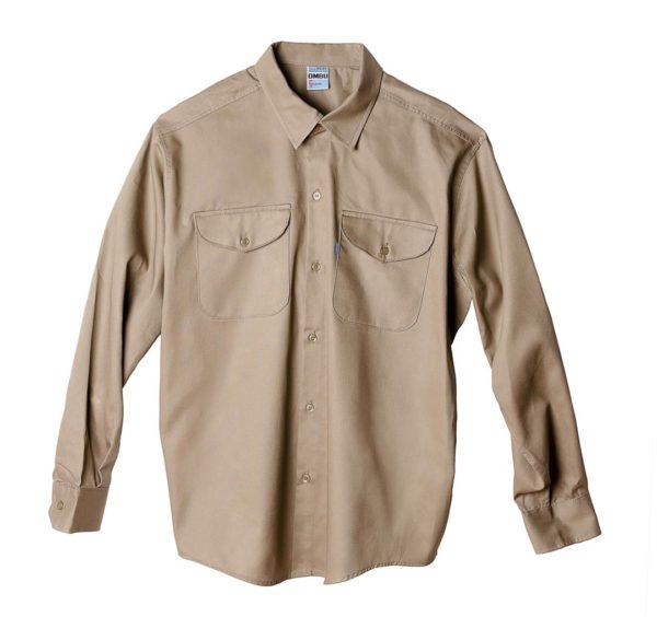 Camisa de trabajo OMBU Beige