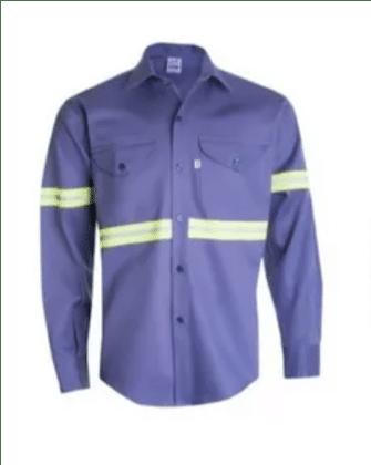 camisa ombu reflectivos Azulino