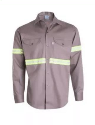 camisa ombu reflectivos Beige