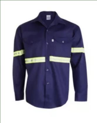 camisa ombu reflectivos azul