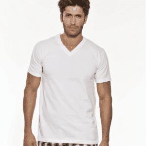 Camiseta Manga Corta Cuello V