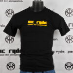 YELLOW ON BLACK SIC RYDE T SHIRT