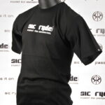WHITE ON BLACK SIC RYDE  T SHIRT