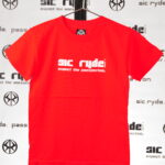 WHTIE ON RED SIC RYDE T SHIRT