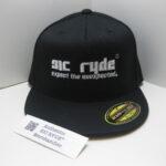 SIC RYDE WHITE ON BLACK FLEXFIT HAT