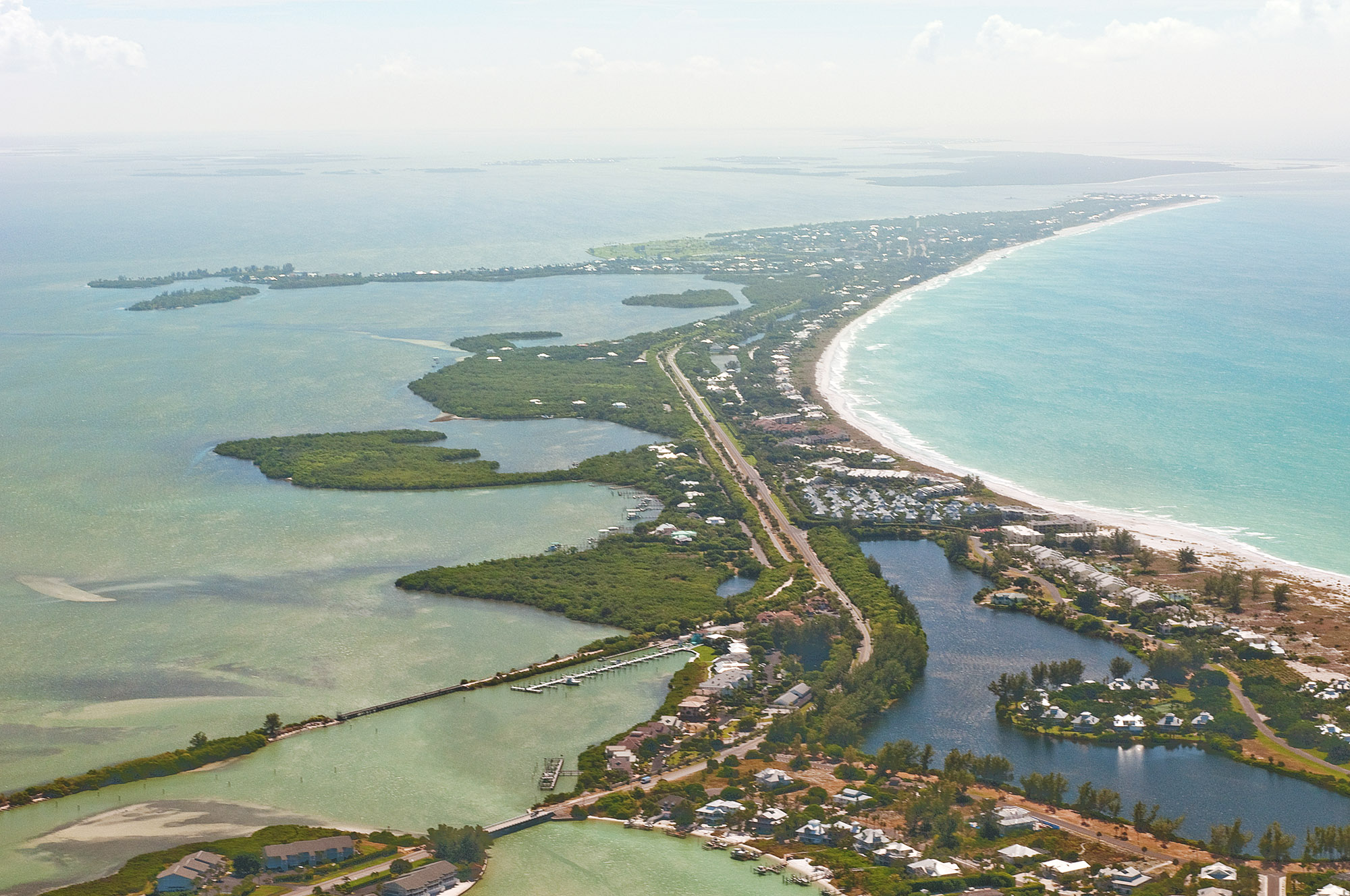 Aerial view of Gasparilla Island and Cayo Costa and the surrounding waters
