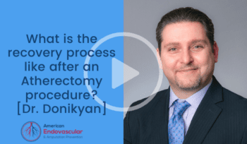 What is the recovery process like after an atherectomy?