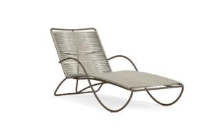 Brown Jordan Walter Lamb aluminum contoured chaise
