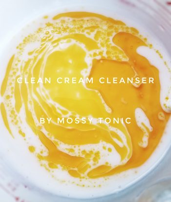 Clean Cream Cleanser Jojoba Oil by Mossy Tonic