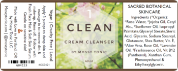 Clean Cream Cleanser 2oz by Mossy Tonic