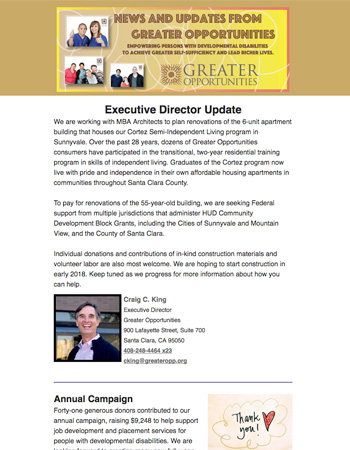 Greater Opportunities Email Newsletter February 14 2017