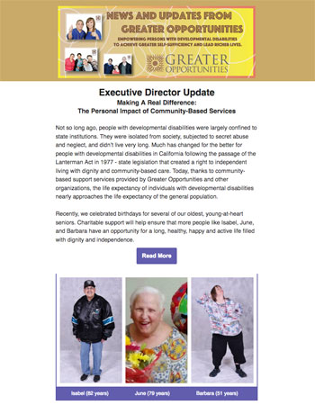 Greater Opportunities Email Newsletter July 10 2017